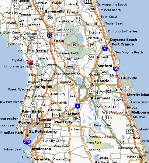 Crystal River Florida Map Crystal River Florida   Map of Crystal River or directions to